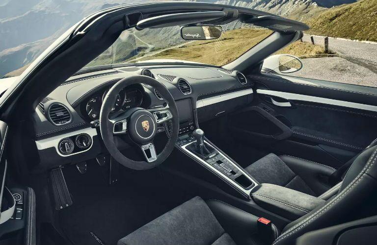 Porsche 718 Spyder Interior Cabin Dashboard & Seating