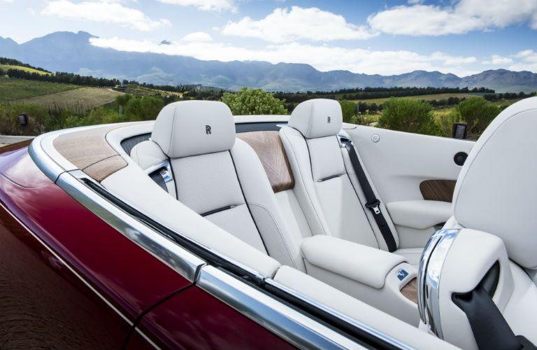 2020 Rolls-Royce Dawn Interior Cabin Rear Seating Top Down