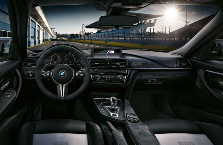BMW M3 Interior Cabin Dashboard at Race Track