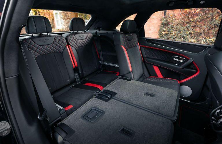 2020 Bentley Bentayga Interior Cabin Seating Split Folded