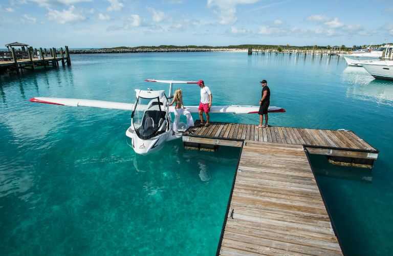 ICON A5 Docked in Water