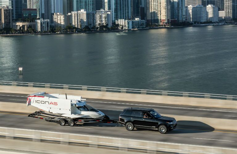 ICON A5 Being Towed in Custom Trailer