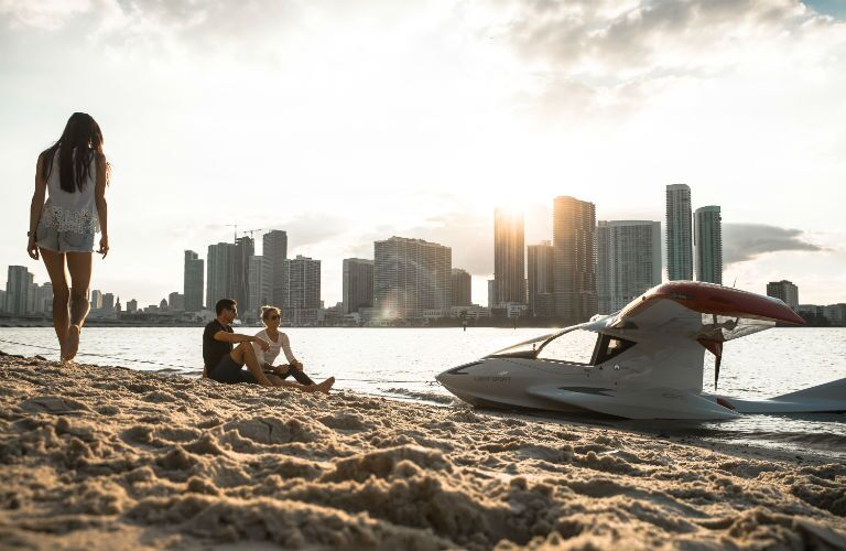 ICON A5 Parked on the Beach
