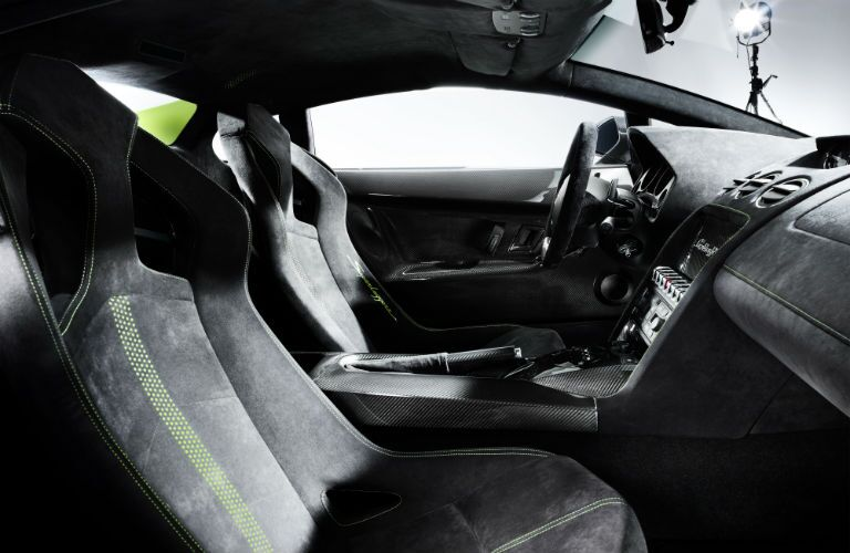 Green Lamborghini Gallardo Superleggera Interior Cabin Cockpit