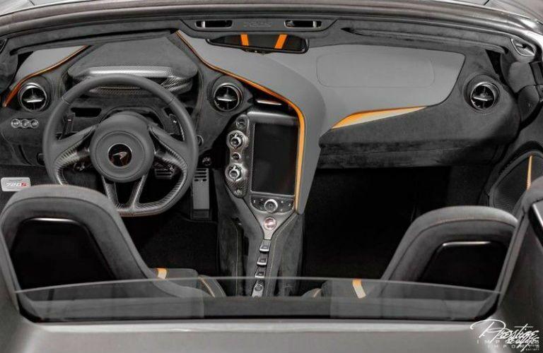 2020 McLaren 720S Spider Interior Cabin Dashboard Aerial