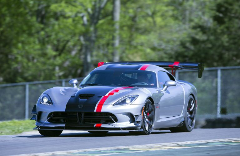 A photo of a used Dodge Viper on a race track.