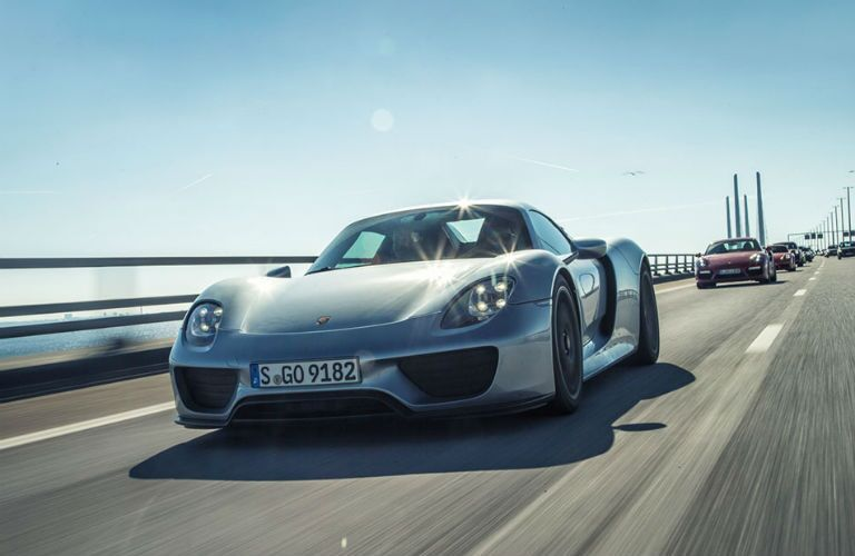 Porsche 918 Spyder Exterior Driver Side Front Angle