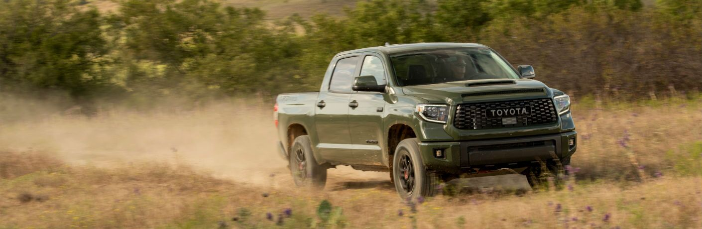 2020 Toyota Tundra driving in field