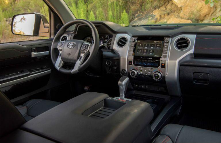 2020 Toyota Tundra steering wheel and dashboard