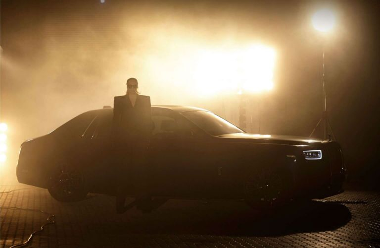 Rolls-Royce Phantom Exterior Passenger Side Front Profile with Gwendoline Christie