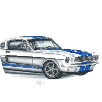 Shelby Ford Mustang Exterior Concept Art
