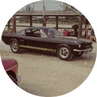 Shelby Ford Mustang Exterior Passenger Side Front Profile
