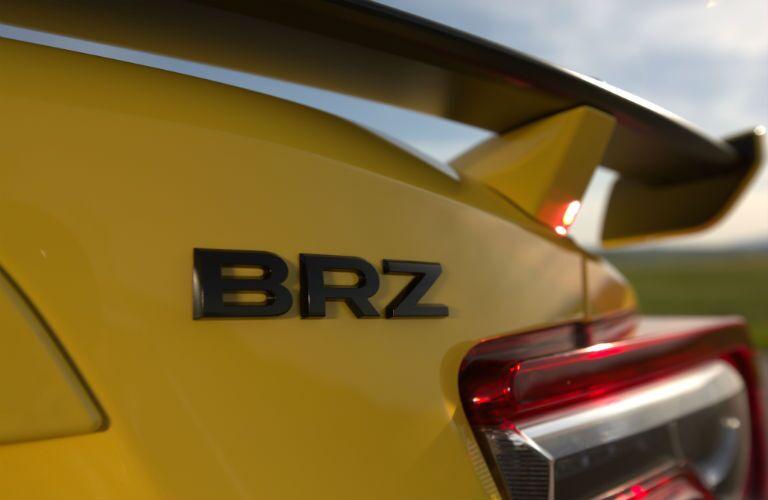 2017 Subaru BRZ Series.Yellow Exterior Rear Fascia and Spoiler