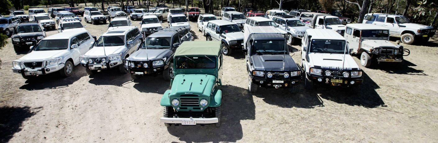 Many Vintage Toyota Land Cruiser Models