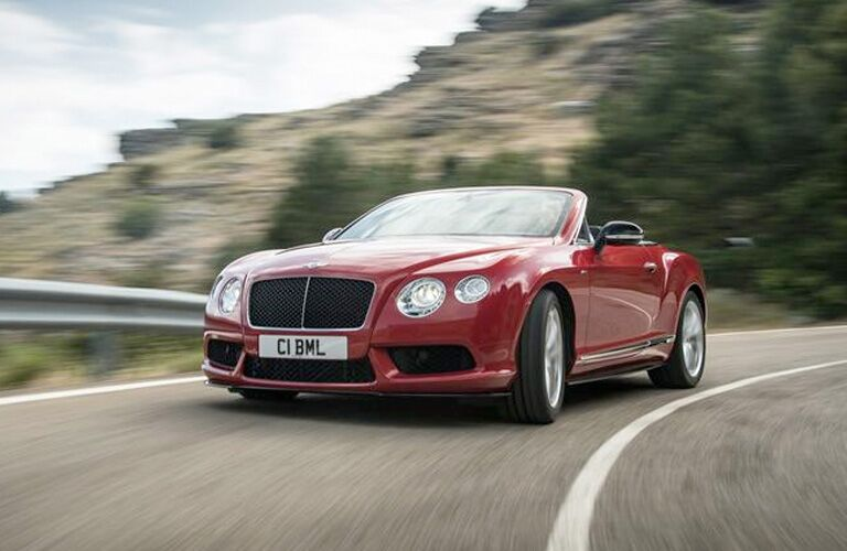 red 2014 bentley continental