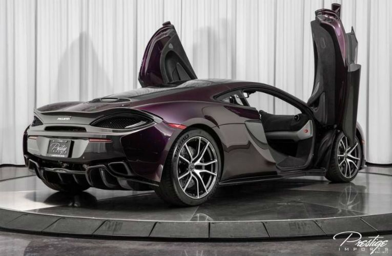 2017 McLaren 570GT Exterior Passenger Side Rear Profile with Doors Open