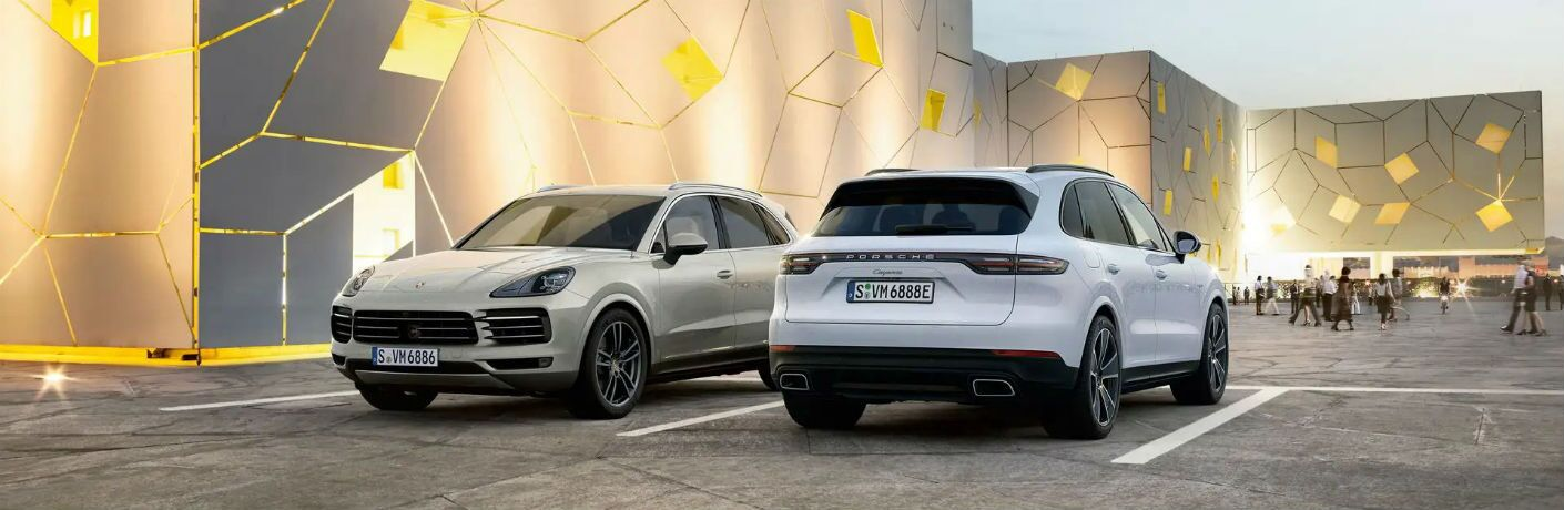 Porsche Cayenne Exterior Driver Side Front Passenger Rear Profiles