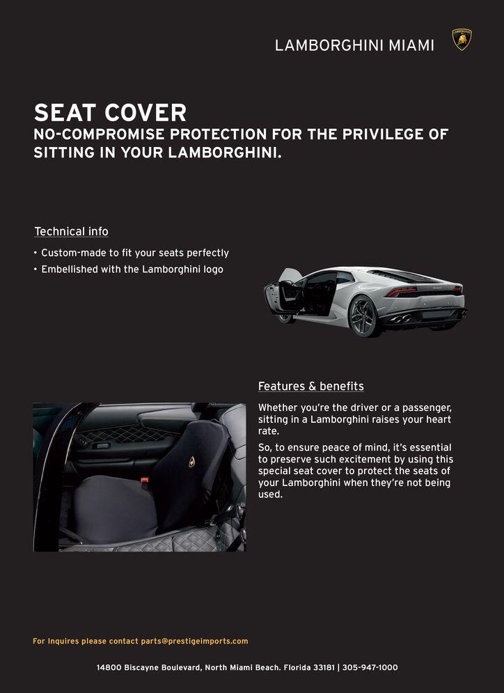 Lamborghini Seat Cover