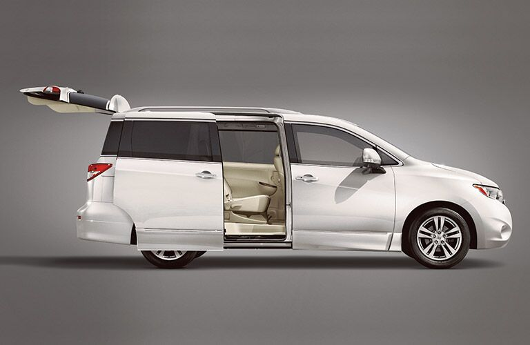2016 Nissan Quest with sliding door and rear hatch open