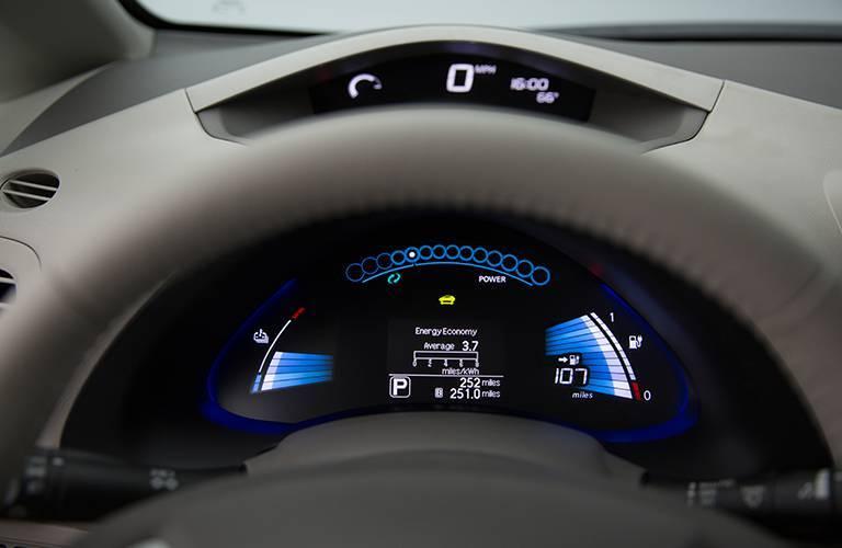 2016 Nissan LEAF in Kansas City, MO interior multi information screen