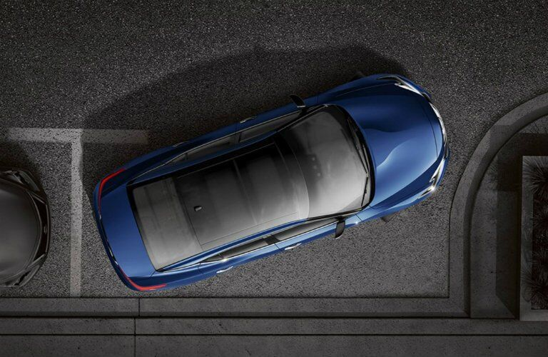 blue 2017 Nissan Maxima seen from top