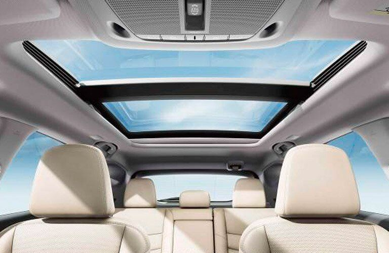 2017 Nissan Murano interior seats and sunroof