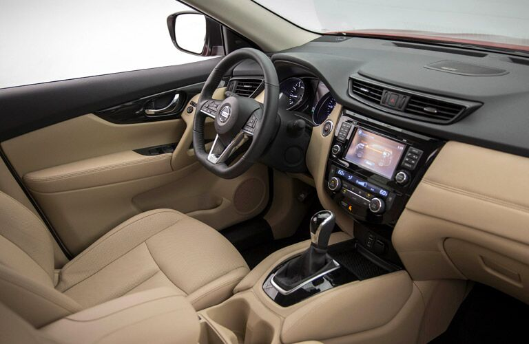 Interior on the 2017 Nissan Rogue