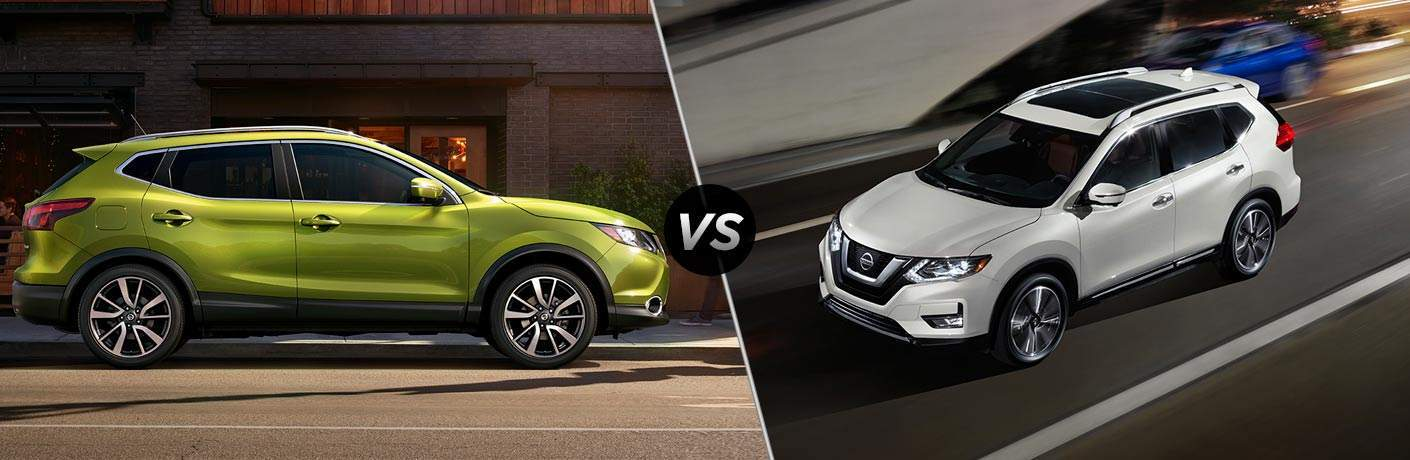 2017 Nissan Rogue Sport and 2017 Nissan Rogue exteriors
