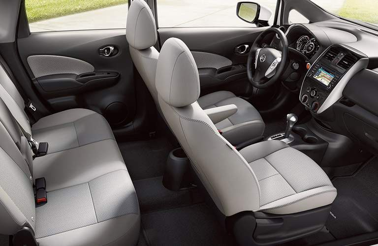 2017 Nissan Versa Note interior seats seen from side