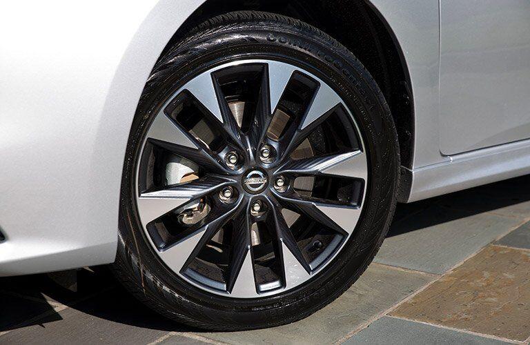 silver 2017 Nissan Sentra wheel closeup