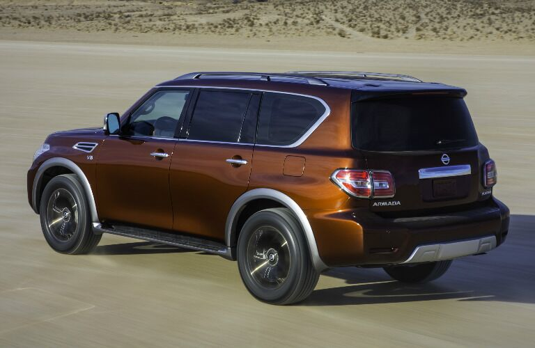 2017 Nissan Armada exterior side driving through desert