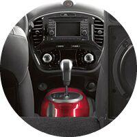2017 Nissan Juke interior center console and gear shift