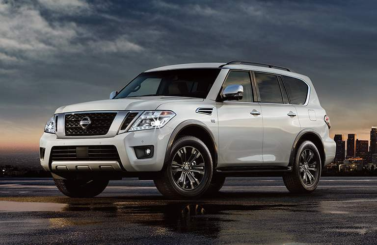 white 2018 Nissan Armada front side exterior