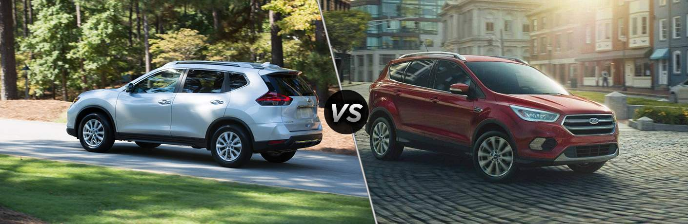 2018 Nissan Rogue and 2018 Ford Escape side by side
