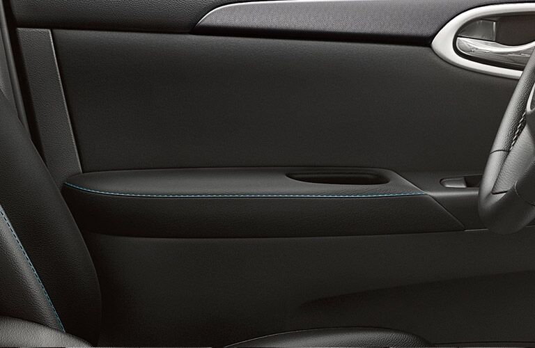 interior door trim and stitching in the nissan sentra