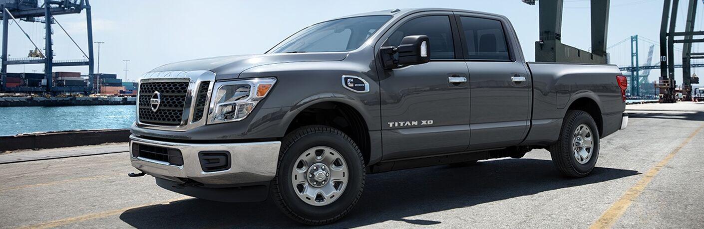gray 2018 Nissan Titan XD side view