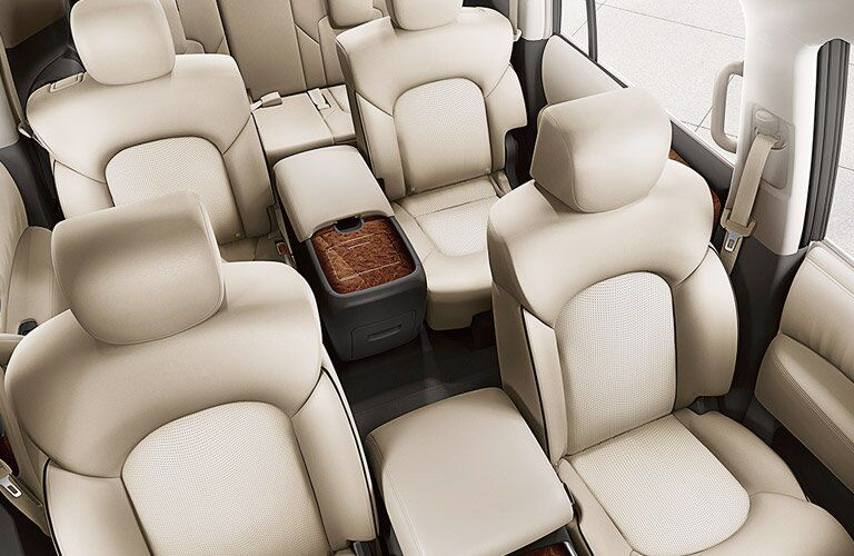 2017 Nissan Armada seats seen from the top