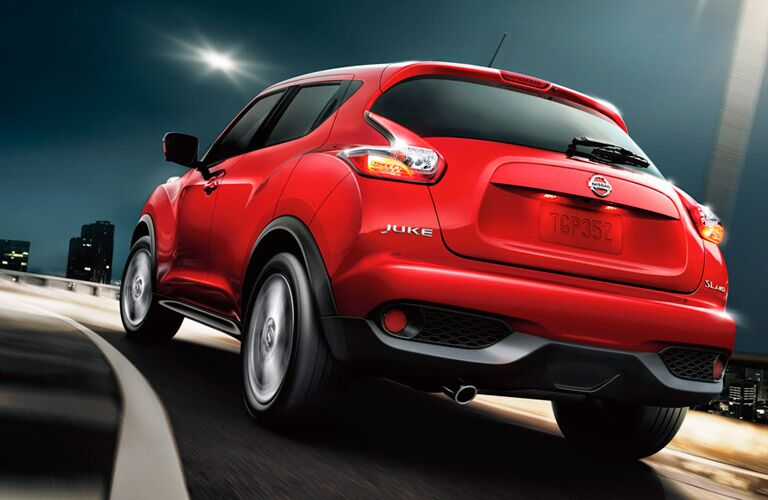 red 2017 Nissan Juke exterior rear