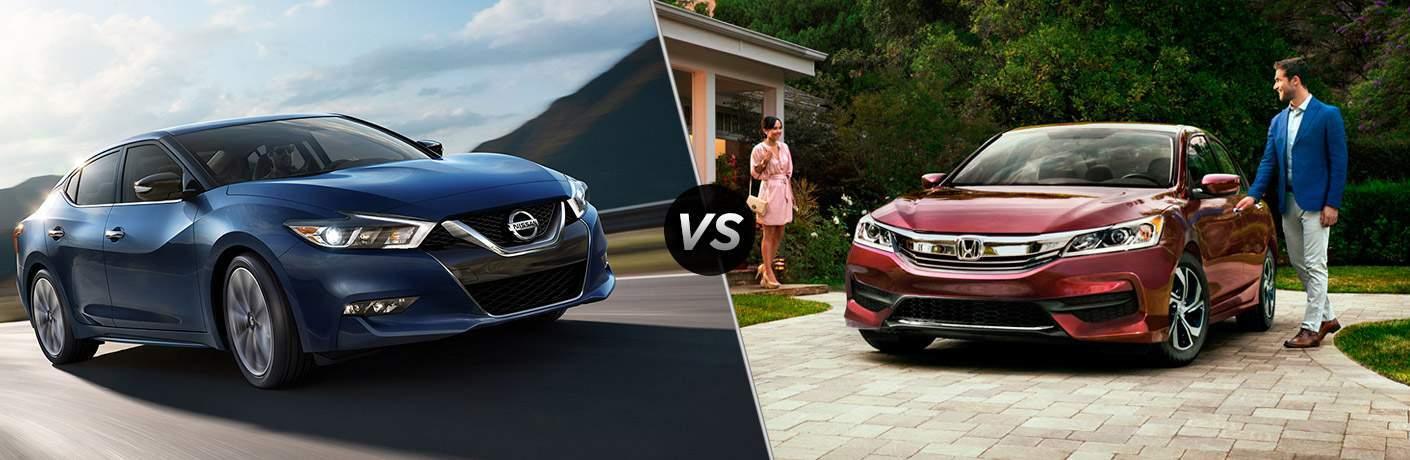 2017 Nissan Maxima and 2017 Honda Accord exteriors