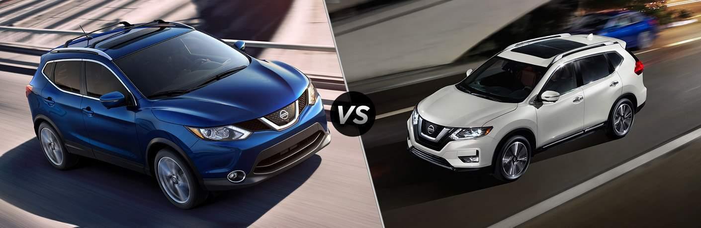 2017 Nissan Rogue Sport and 2017 Nissan Rogue exteriors