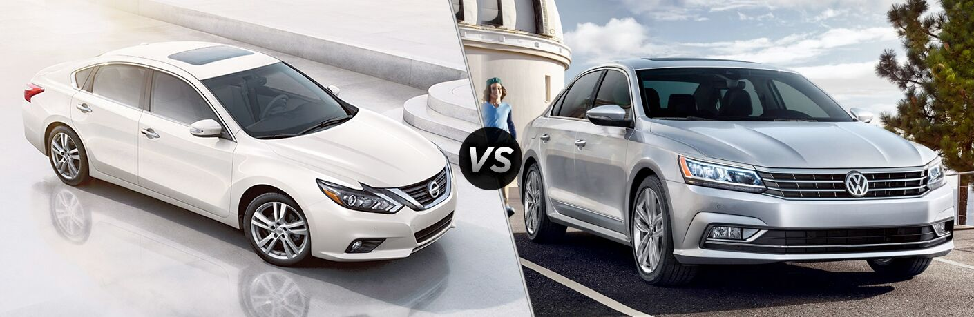 2018 Nissan Altima and 2018 Volkswagen Passat side by side