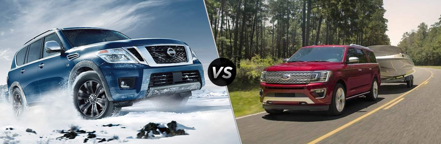 2018 Nissan Armada and 2018 Ford Expedition side by side