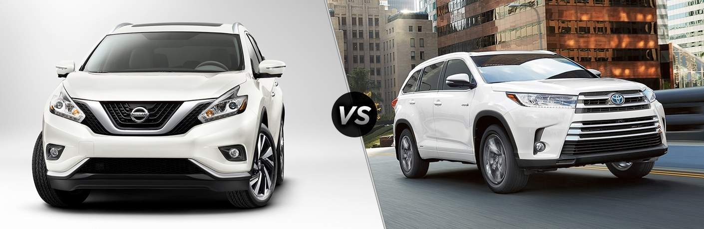 2018 Nissan Murano and 2018 Toyota Highlander side by side
