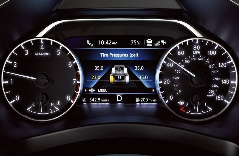 Nissan advanced drive assist dashboard display