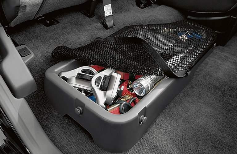 2018 Nissan Frontier under-seat cargo storage