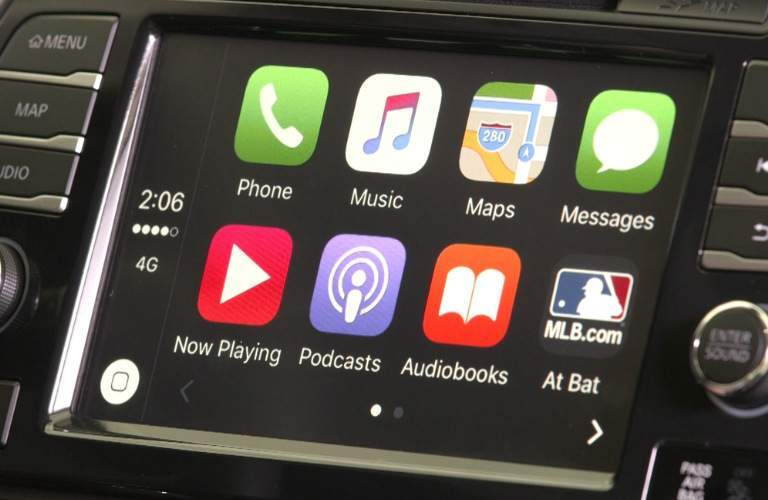 2018 Nissan Maxima view of touch screen with Apple CarPlay™ applications
