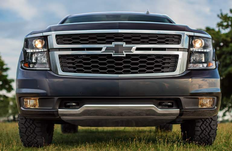 2017 Chevy Tahoe grill, parked