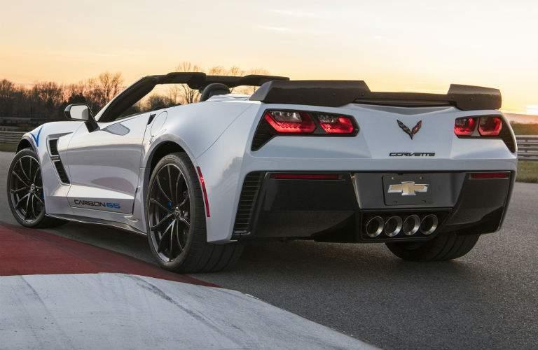 white Chevy Corvette rear