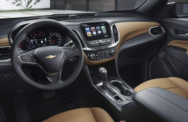 2018 Chevrolet Equinox dash and wheel view.