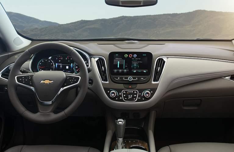 2018 Chevrolet Malibu dash and steering wheel view.